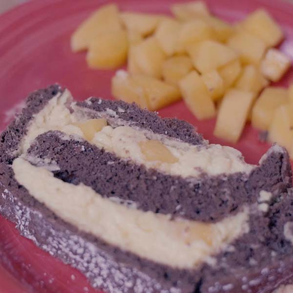 Mango-Biskuitrolle
